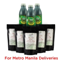 Wellness Snack Pack! 3x 1L M2 Tea Drink & 5x Salted Egg Chips - METRO MANILA
