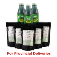 Wellness Snack Pack! 3x 1L M2 Tea Drink & 5x Salted Egg Chips - PROVINCIAL