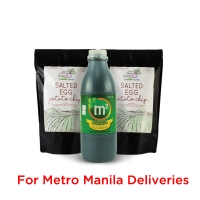 Wellness Snack Pack! 1x 1L M2 Tea Drink & 2x Salted Egg Chips - METRO MANILA